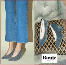 Rouje Plain Elegant Style Pointed Toe Pumps & Mules