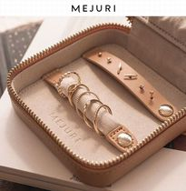 MEJURI Plain Leather Pouches & Cosmetic Bags