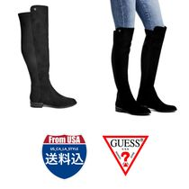 Guess Casual Style Unisex Faux Fur Street Style Flat Boots