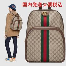 GUCCI Ophidia Unisex Street Style A4 Backpacks