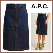 A.P.C. Denim Medium Midi Skirts