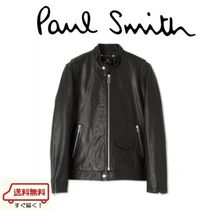 Paul Smith Short Plain Leather Biker Jackets
