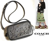 Coach Star Casual Style Studded 2WAY Leather Shoulder Bags