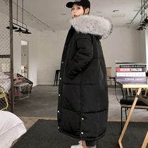 Faux Fur Plain Long Parkas