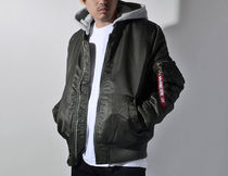 ALPHA INDUSTRIES Unisex Street Style MA-1 Bomber Jackets