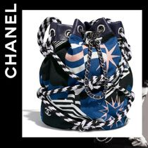 CHANEL Blended Fabrics Purses Bags