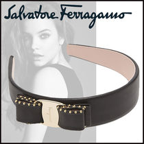 Salvatore Ferragamo Studded Leather Party Style Headbands