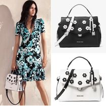 Michael Kors BRISTOL Flower Patterns Street Style 2WAY Plain Leather