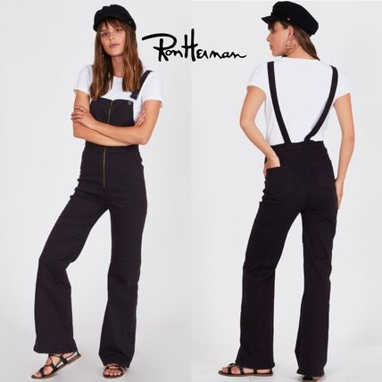 Dungarees Casual Style Plain Cotton Long Handmade Dresses
