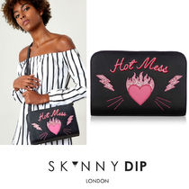 SKINNYDIP Heart Street Style Party Style PVC Clothing Shoulder Bags