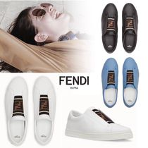 FENDI Casual Style Leather Low-Top Sneakers