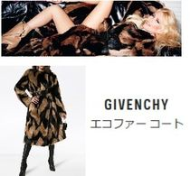 GIVENCHY Faux Fur Other Animal Patterns Long Party Style Coats