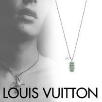 Louis Vuitton Blended Fabrics Street Style With Jewels Necklaces & Chokers