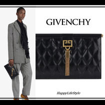 GIVENCHY Tassel 2WAY Bi-color Chain Plain Leather Elegant Style