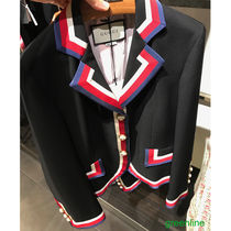 GUCCI Stripes Wool Blended Fabrics Plain Jackets