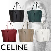 CELINE Cabas Phantom Calfskin Plain Handbags