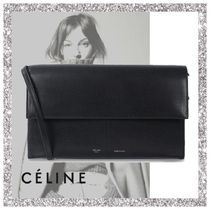 CELINE 2WAY Plain Leather Messenger & Shoulder Bags