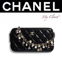 CHANEL MATELASSE Lambskin Street Style 2WAY Chain Plain With Jewels