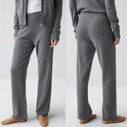 Casual Style Cashmere Plain Long Pants