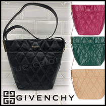 GIVENCHY Other Check Patterns Leather Elegant Style Shoulder Bags