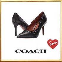 Coach Flower Patterns Studded Plain Elegant Style