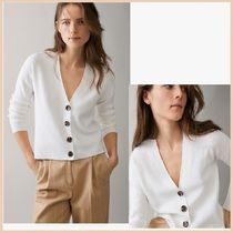 Massimo Dutti Long Sleeves Plain Office Style Cardigans