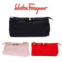 Salvatore Ferragamo Plain Pouches & Cosmetic Bags