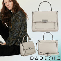 PARFOIS Casual Style Faux Fur Studded 2WAY Plain Shoulder Bags