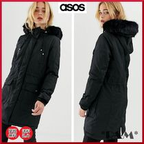 ASOS Casual Style Faux Fur Long Parkas