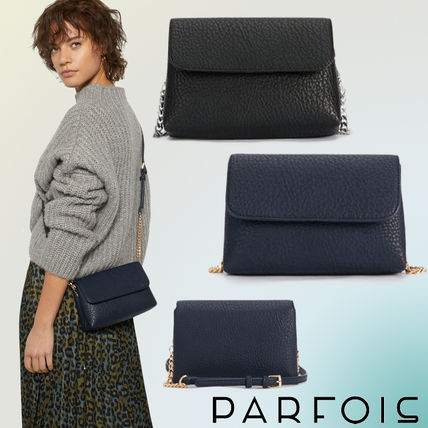 1c9de61b8e12 ... PARFOIS Shoulder Bags Casual Style Faux Fur Bi-color Chain Plain Shoulder  Bags ...