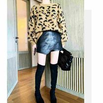 Short Casual Style Faux Fur Plain