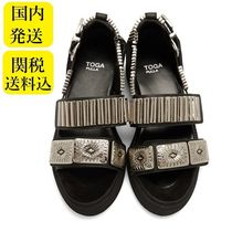 TOGA Open Toe Platform Casual Style Blended Fabrics Leather