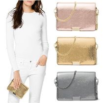 Michael Kors JADE bag 2WAY Chain Leather Party Style Python Clutches