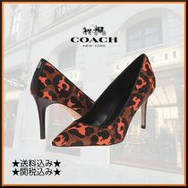 Coach Camouflage Leather Pin Heels Elegant Style