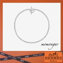 HERMES Costume Jewelry Casual Style Unisex Silver