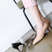 Enamel Plain Block Heels Office Style