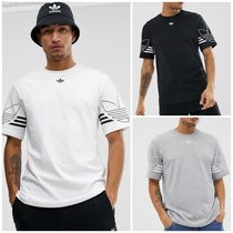 adidas Crew Neck Street Style Plain Cotton Short Sleeves