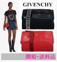 GIVENCHY PANDORA Plain Leather Shoulder Bags