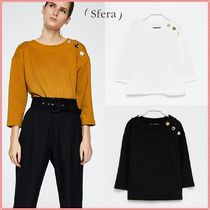 Sfera Cropped Plain Shirts & Blouses