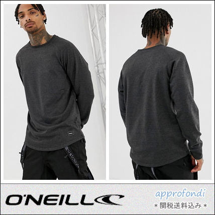 Pullovers Street Style Long Sleeves Plain