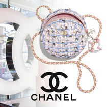 CHANEL TIMELESS CLASSICS Blended Fabrics 2WAY Chain Elegant Style Shoulder Bags