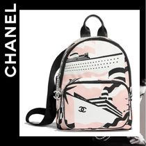 CHANEL Casual Style Calfskin Backpacks