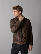 Massimo Dutti Leather Biker Jackets