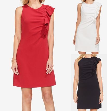 Sleeveless Plain Medium Party Style Dresses
