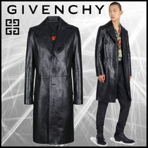 GIVENCHY Plain Leather Long Chester Coats