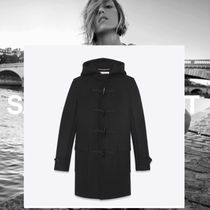 Christian Dior Wool Plain Long Duffle Coats
