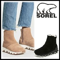 SOREL Round Toe Rubber Sole Casual Style Blended Fabrics