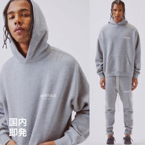 FEAR OF GOD ESSENTIALS Street Style Long Sleeves Cotton Hoodies