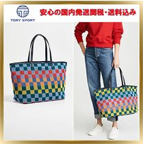 TORY SPORT Other Check Patterns A4 Elegant Style Totes
