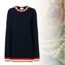 GUCCI Cable Knit Cashmere Long Sleeves Knitwear